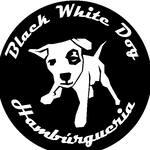 Logotipo Black White Dog Hambúrgueria
