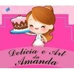 Logotipo Delícia e Art da Amanda