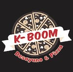Logotipo Kboom Desayuno y Pizza