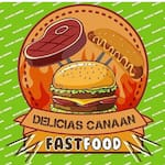Logotipo Delicias Canaan Fast Food