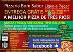 Logotipo Pizzaria Bom Sabor Delivery Três Rios
