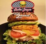 Logotipo Rockin' Burgers Gourmet