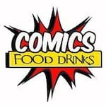 Logotipo Comics Food Drinks