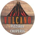 Logotipo Vulcano Pizzaria e Choperia