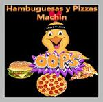 Logotipo Pizzas y Hamburguesas Machin