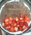 Tapioca de  Chocolate com Morango ( Cód. CM )
