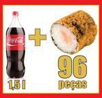 96 peças + Coca-Cola 1,5 litros
