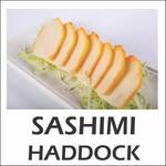 Sashimi haddock defumado