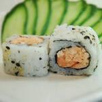 Uramaki salmão grelhado.