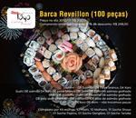 COMBO LUXO 100 PEÇAS MONTADO NA BARCA. Acompanha Kit Molhos p/10 Pessoas.