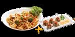 Yakisoba tradicional 500g + 5 unidades de hot especial
