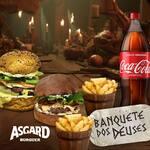 Banquete dos deuses ( 2 burguers + 2 fritas + 1 refri )