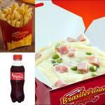 Box penne à primavera+ batata frita+ coca mini