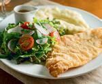160 - file de peixe (arroz, purê de batata e salada)