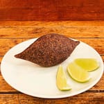 Kibe frito de carne e coalhada