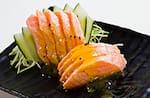 Roast salmon com molho de maracujá