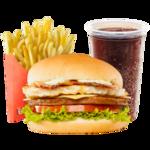 Trio passaporte hambúrguer  c/coca