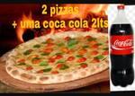 Promoção família 1: 1 pizza grande 1/2 peperone 1/2 calabresa + 1 pizza grande 1/2 calabresa 1/2 portuguesa + uma coca cola 2 litros