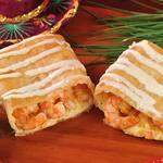 Burrito camarones puerto escondido a moda chimichanga (frito)