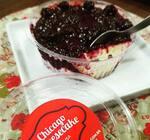 Low carb - cheesecake com cobertura de frutas vermelhas