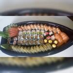 Barca 62 peças com Sashimi