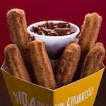 Churros relleno Nutella