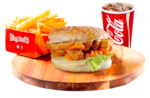 Combo double chicken burger