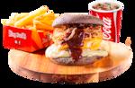 Combo bbq double cheeseburger