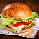 Black burger vegetariano -grão de bico