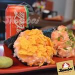Temaki de salmão fresco