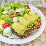 Salada abobrinha com parmesão