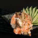 014 - Temaki salmão com shimeji