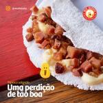 Tapioca de bacon com requeijão cremoso