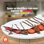 Tapioca de Nutella com morango