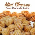 Mini churros recheados (doce leite) 10 unid.