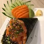 1 temaki + sashimi 5 un