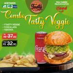 Meio combo veggie : 1 tasty veggie (burguer de beringela) / 1 coca-lata / 1 batata individual