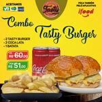 Combo tasty burger : 2 tasty burger / 2 coca-lata / 1 batata