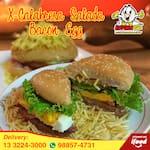 Lanche x calabresa salada bacon egg