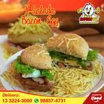 Lanche x salada bacon egg