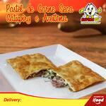 Pastel carne seca c/ Catupiry e azeitona