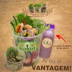 Full salad camarões tropical + matte/icetea + frutas do dia