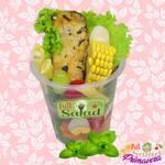 Full salad fresh chicken