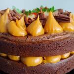 Brownie Cake Doce de Leite - Bolo Pequeno (15 cm)