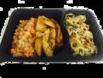 Kafta ao molho thay, risoto de legumes e batata rústica - 450g