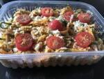 Espaguete de abobrinha, cenoura e carne
