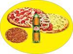 Promoção pizza em dobro + refrigerante