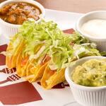 Tacos + molhos - Porção (4 unid)