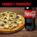 PROMOÇOES E COMBOS PIZZAS  COM DESCONTO APARTIR DE 18,99  E COMBOS DE 2 PIZZAS  APARTIR 43,99