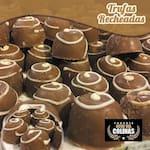 Bombom de trufa recheio chocolate (10 unidades)